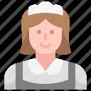 job, housekeeper, woman, avatar, service, maid, occupation icon