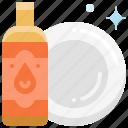kitchen, dish, liquid, plate, washing, clean, dishwashing icon