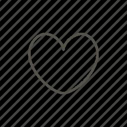 heart, line, love, pet icon