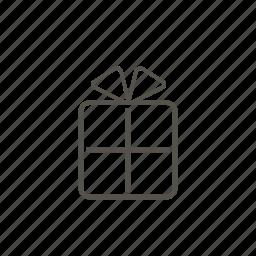 birthday, box, holliday, line, pet, present, surprise icon