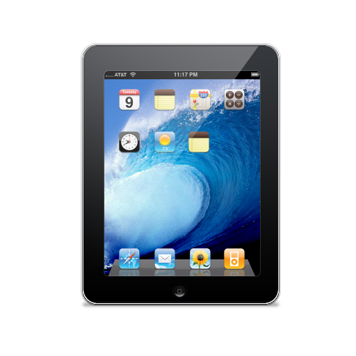 apple, ipad, touch screen icon