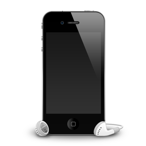 4g, apple, headphones, iphone, mobile, samrtphone icon