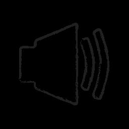 music, mute, sound, speaker, up, volume icon