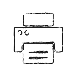contact, fax, hardwar, pinter, print icon
