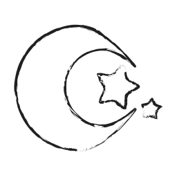 dogma, hallow, islam, moon, night icon