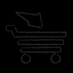 basket, cart, finance, full cart, sale, shopping icon