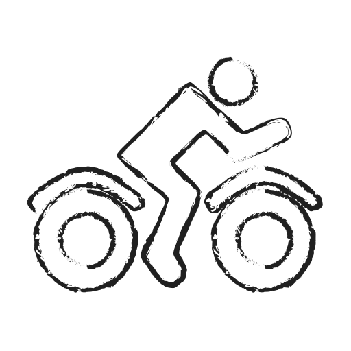 bike, delivery, rider, transport, user, vehicle icon