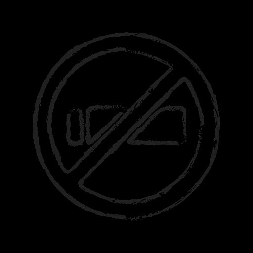 no smoking, quite, smoking, warning icon