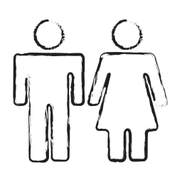 couple, female, gender, group, male, user group, washroom sign icon