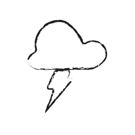cloud, flash, forecast, idea, light, weather icon