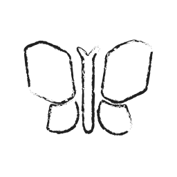 bird, butterfly, caterpillars, creative, grid, insect icon