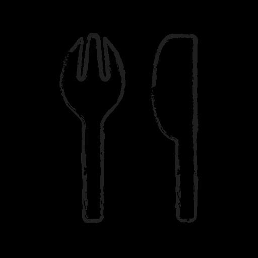 folk, kitchen, spoon, table, tools icon