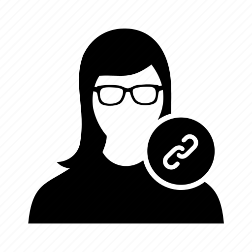 attachment, paperclip, user, women icon