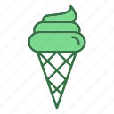 cone, dessert, food, ice cream, snow, sweet icon