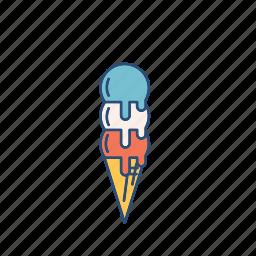 cool, cream, ice, icecream, sweet icon