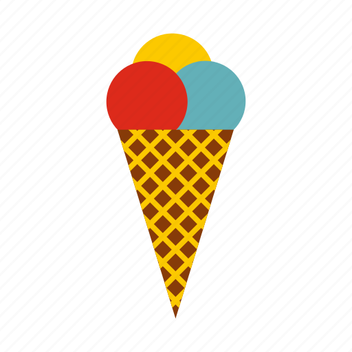 Cold, cone, cool, cream, frost waffle, ice, scoops icon - Download on Iconfinder