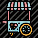 cart, cream, ice, shop