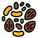 healthy, nuts, seed, topping icon
