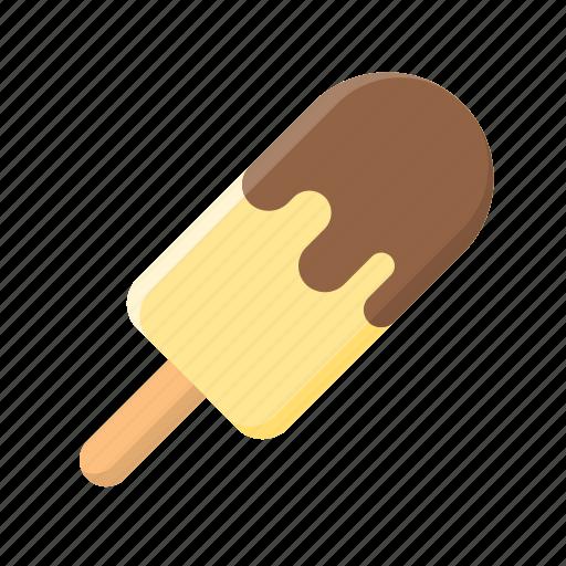 chocolate, dip, ice cream, ice cream bar, popsicle, sweet, vanilla icon