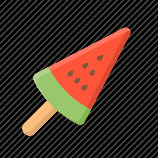 ice cream, ice cream bar, popsicle, sweet, watermelon icon