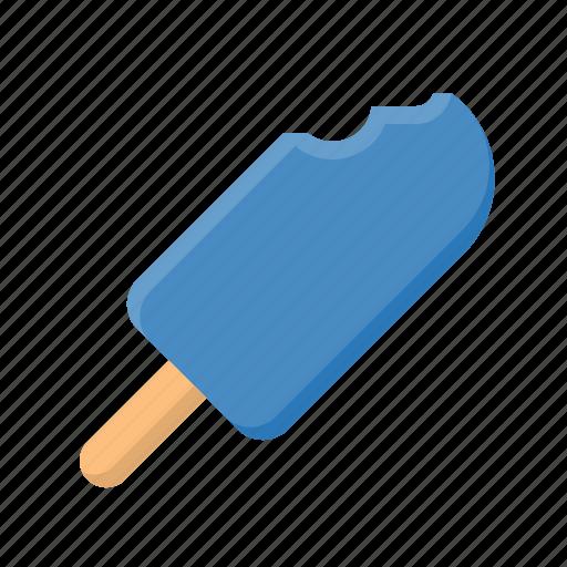 bite, ice cream, ice cream bar, popsicle, sweet icon