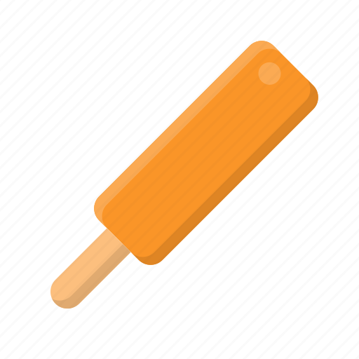 ice cream, ice cream bar, orange, popsicle, sweet icon