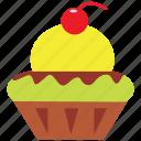 cherry, cupcake, dessert, ice cream, icecream, mango icon