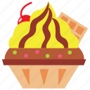 cupcake, dessert, food, icecream, mango, wafel icon