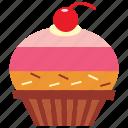 cupcake, dessert, icecream, orange, strawberry, sweets icon