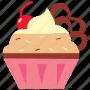 cone, dessert, drink, food, ice, icecream, vanilla icon