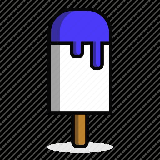 cream, dessert, ice, lick, stick, summer, sweet icon
