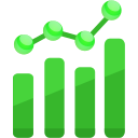 analytics, chart icon