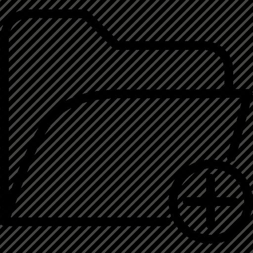 Add, folder, data, document, file, plus, storage icon - Download on Iconfinder