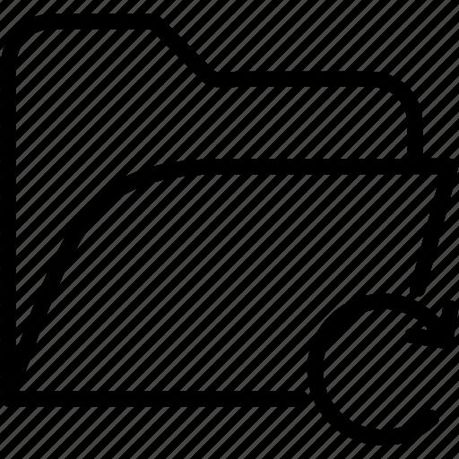 data, document, file, folder, redo, storage icon