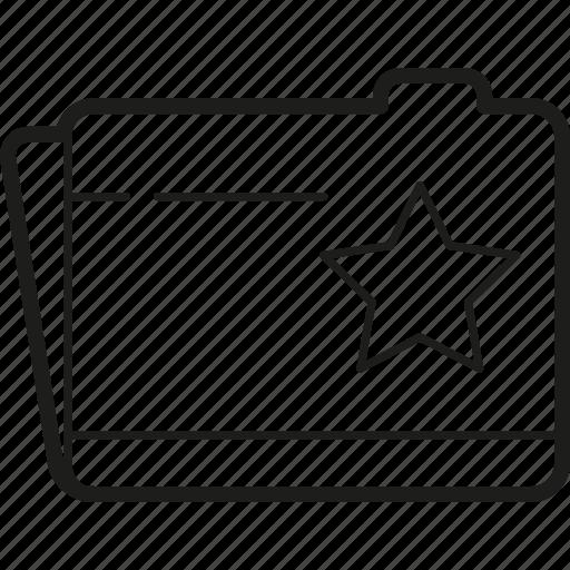 document, folder, stared icon