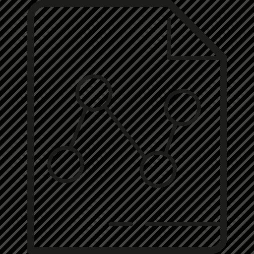 chart, diagram, document, letter, paper, progress icon