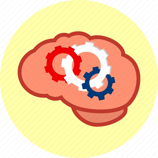 brain, business, education, gear, idea, solution, tool icon