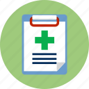 checklist, clipboard, diagnosis, medical report, paper, report icon