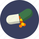 capsule, drug, health care, medicine, natural, nutrition, vitamin icon