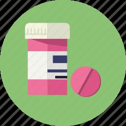 aspirin, bottle, capsule, drug, pill, treatment, vitamin icon