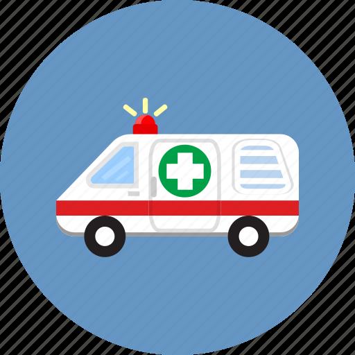 ambulance, emergency, help, hospital, paramedic, protection, siren icon