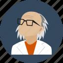 eyeglasses, old, human, doctor, avatar, user, profile