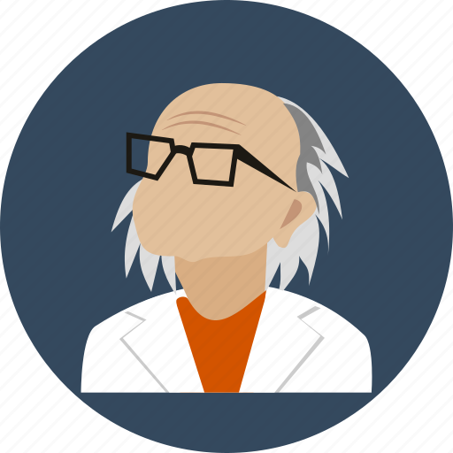 avatar, doctor, eyeglasses, human, old, profile, user icon