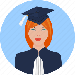 academic, advocate, bachelor, graduate, human, judge icon
