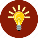 bulb, creative, ideea, inspiration, invention, lightbulb, seo icon