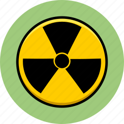 atomic, danger, hazard, nuclear, radiation, radioactive, toxic icon