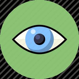 eye, human, iris, medical, search icon