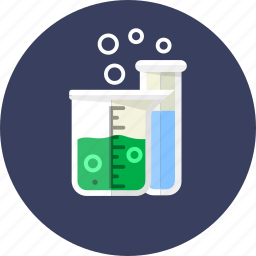 biology, drug, equipment, flask, reaction, science, test icon
