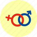 connection, couple, different, female, gender, man and woman icon