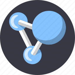atom, biology, connection, dna, structure, water icon